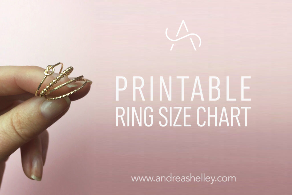 picture relating to Ring Size Printable called Uncover Your Ring Sizing - Andrea Sey Patterns